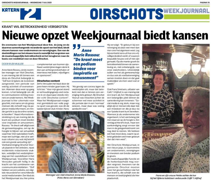 Nieuwe opzet Weekjournaal biedt kansen